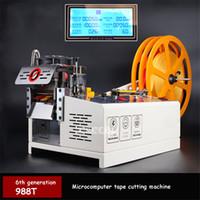 988 T Otomatik Bilgisayar Bant Kesme Makinesi Sıcak ve Soğuk Kesme Makinesi Elastik Bant Bant Kemer 110 V / 220 V 400 W