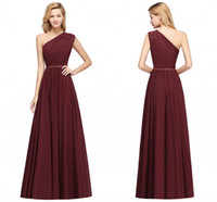 Elegant One Shoulder Bridesmaids Dress Cheap A Line Countrys...