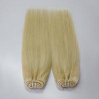 saç Uzantıları Avrupa sarışın # 613% 100 İşlenmemiş Remy Sarışın ucuz İnsan Saç beyaz Blonde örgü Düz 4 desteler bakire Saç dikmek