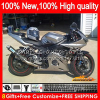 Body Kit For YAMAHA silvery black YZF600 YZF 600 R 6 600CC Y...