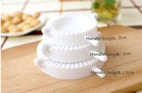 3PCS /セット餃子メーカーGyoza Mold Dumpling Mold Doughプレス3サイズRavioli生地ペストリーパイホワイトカラー
