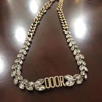 Regalo collana delle donne Lettera del Choker metallo catena di cristallo per amore fidanzata gioielli Accessori di moda Epacket Spedizione
