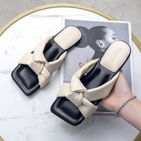 WEIBATE 디자이너 슬리퍼 여성 신발 광장 발가락 여자 슬리퍼 품질 PU 가죽 숙녀 여름 슬라이드 플랫 오픈 발가락 슬리퍼