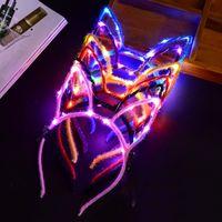 LED Cat Уха Оголовье Загорается Партия Светящиеся Поставки Женщины Девушка Мигающий Волос Группа Палочки Хэллоуин партия Рождественские Подарки