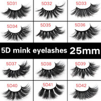 25mm long 3D mink eyelashes 4D 6D 5D large mink eyelashes fa...