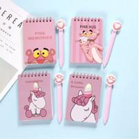 دفتر صغير ، قرطاسية جميلة ، سلسلة حيوانات الكرتون ، يونيكورن ، قطة ، أرنب ، النمر الوردي ، القلم الإبداعي ، مجموعة محمولة ،