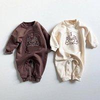 Facejoyous Baby Boy Одежда для младенцев с длинным рукавом комбинезон новорожденная девочка Одежда Мультфильм Rompers Костюмы для новорожденных Одежда E3ud #