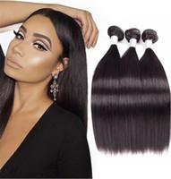 Cheveux droits indiens 3bundles cheveux virginiers crus cheveux indiens droit 8-30inch URMEILI Nice 100% Remy Remy Cheveux Human Hair Weave Bundles Double The