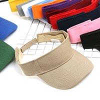 La manera transparente Visera Sombrero creativo de plástico transparente superior vacío del casquillo al aire libre Viajes Playa Protector solar Sombrero de sol del sombrero del partido 100pcs T1I1937