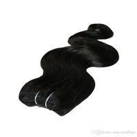 Körper-Wellen-brasilianisches Menschenhaar Keine Clips Halo BW Flip in Haar-Verlängerungen, 1pc 80G 100G einfache Fisch-Linie Haar-Spinnen-Großhandelspreis