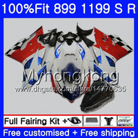 Injection For DUCATI 899 1199 S R Panigale Blue stars red 12 13 14 15 16 325HM.17 899R 1199R 899S 1199S 2012 2013 2014 2015 2016 OEM Fairing