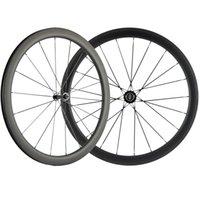 Klammer-Carbon-Straßen-Fahrrad Wheelset 700C Carbon dreht 25mm Breite Schwarz R13 Hub 3k Bremsfläche
