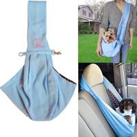 Manipolume reversibile piccolo cane cat sling carrier sacchetto pet travel tote morbido comodo sacchetto biala a doppia faccia per borse