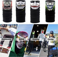 Sin fisuras mágica esquelética del cuello Máscara de la bufanda de múltiples funciones sin fisuras magia toalla de cara de la motocicleta de la bicicleta al aire libre Caza Cara máscara GGA174 100pcs