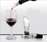 내구성 와인 통풍 스테인레스 스틸 스트레이너 레드 와인 용해 장치 넓은 입 디자인 플라스틱 스파우트 마개있는 유리 병 휴대용