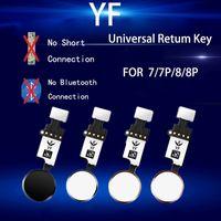 50PCS YF العالمي المنزل زر فليكس كابل لآيفون 7 8 زائد القائمة لوحة المفاتيح العودة على حل الفاكز