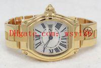최고 품질 숙녀 쿼츠 무브먼트 시계 W62018V1 2676 18K 옐로우 골드 실버 다이얼 여성 패션 Watchce