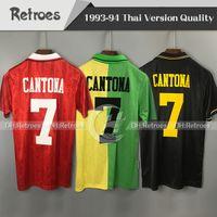 93 94 Ретро Футбол Джерси 1993 1994 Ретро Футбол Джерси # 7 Футбольная рубашка Cantona Giggs Классический дом Red Aurk Tear Tripth футбол
