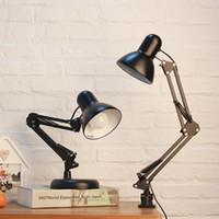 Moderne einfache verstellbare Schreibtischlampen E27 LED Vintage Tisch für das Studium Büro-Lampen Nachtlicht Schlafzimmer Bibliothek Wohnzimmer Lesen