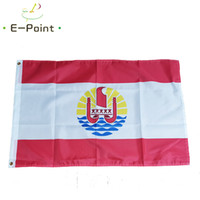 Французская Полинезия Флаг Tahiti полинезийский остров 3 * 5 футов (90 см * 150см) Полиэстер Баннер украшение летающий флаг дома сад