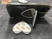빈 유리 전화를 인쇄 DHL 유니버설 심장 거울 핸드폰 홀더 3M 접착제 UV는 360도 핑거 홀더 스탠드