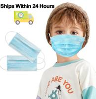 50x En stock Livraison Rapide 3 couche jetable Masque de protection pour prévenir la maladie Masques anti-poussière enfants Mask enfants