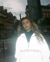 Places + Faces Reflective ZIP Up hooded Male and female love...