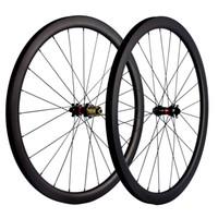700C الفاصلة / لايحتاج / أنبوبي قرص الفرامل الكربون العجلات 40MM العمق العرض 25mm الكربون عجلات الدراجة الطريق UD ماتي سباق العجلات Novatec محور