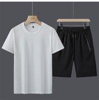 mens chándales diseñador del verano de 2020 Sweatsuit ropa de diseño de lujo uydcfs de manga corta jersey con basculador de los pantalones ocasionales Trajes Homme S