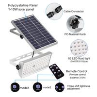 65 المصابيح الشمسية ضوء السوبر مشرق 1500LM 12W الأضواء اللاسلكية في الهواء الطلق حديقة ماء مصباح الطاقة الشمسية مع التحكم rremote