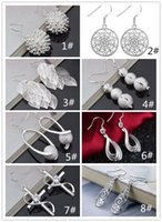 fashion 925 sterling silver designer earrings 8 styles for o...
