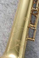 Yanagisawa S-901 سوبرانو ساكسفون النحاس الذهب ورنيش أداء الموسيقية ب شقة ساكس مع حالة الملحقات الفلغة