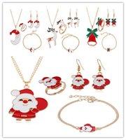 Neue Weihnachts-Schmuck-Set-Baum Weihnachtsmann Elk Mond Glocke Weihnachten Reihen arbeiten Armband-Schmuckkörper Anhänger Senden Sie Freunde Geschenke