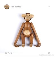 Office Collection Art Home Decoration Cute Puzzle Wood Hanging Monkey Toys Kids Birthday Business Presents Animal Statues Crafts Ornaments