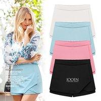 Anasunmoon 2020 Sommer neue europäische und amerikanische Art und Weise falsche zwei Röcke Chiffon Bördeln Cambric dünne beiläufige Kurzschlüsse für Frauen