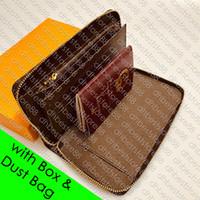 Mens del supporto di carta M60002 ZIPPY ORGANIZZATORE XL del progettista del raccoglitore delle donne borsa della moneta del libretto di assegni Aereo Ticket Passport Pocket Organizzatore Key Pouch Cle