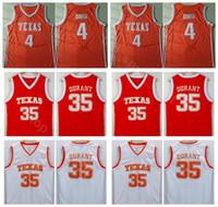 Texas Longhorns College Kevin Durant Jersey 35 Uomini Arancione Bianco Basket 4 Mohamed Mo Bamba Maglie Università Cucita Spedizione Gratuita