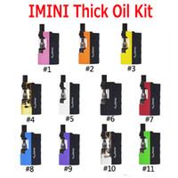 Original Imini Thick Oil Kit Eingebaute 500mAh Batterie Box Mod 510 Gewinde 0.5ml 1.0ml Liberty V1 Tankpatronen Verdampfer Kits 100% Authentisch