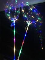 2019 LED Liebesherz Bobo Ball Valentinstag Geschenke LED leuchtend leuchten Ballon transparent Luftballon für Hochzeitsfeier Dekoration