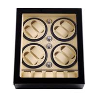 Watch Winder, LT madeira rotação automática 8 + 5 Watch Winder armazenamento caso caixa de exibição 2019 Novo estilo (Dentro negra fora branco)