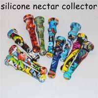 20pcs silicone Nectar NECTOR Collector Quartz kit ongles fumée concentré tuyau avec 14mm Quartz Conseils Dab huile paille Rigs