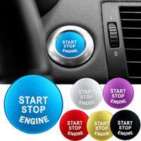 Botão de arranque do motor do carro parar chave acessórios substituir tampa interruptor decoração adesivos de carro para bmw acessórios interiores