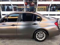 1.52x20m Air Bubble Free Satin Cromato metallizzato Opaco grigio Pellicola auto avvolgente in vinile per il rivestimento del veicolo