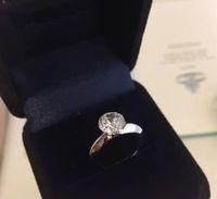Alta versão 925 esterlina anéis de prata garra 1-3 quilates de diamante promessa Bague anillos mulheres casar casamento jóias amantes de noivado de presente