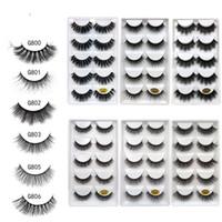5pairs 3D Mink Eyelashes Handmade False Eyelashes Natural Long Thick Crisscross Individual Eyelash Extensions Beauty Makeup 3d mink lashes
