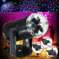 3W / spina USA suono UE attivato RGB LED di cristallo della luce della fase della sfera magica della discoteca del laser del DJ di illuminazione per casa Party Bar Stage Lighting