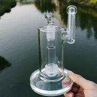 Unico Cancella 18 millimetri di vetro giunto femmina acqua Bong Sidecaar Mobius Glass Bong Matrix Perc bicchiere d'acqua tubo di olio Dab Rigs Rig fumatori Bowl