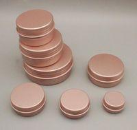 2oz 60g alüminyum ambalaj şişeleri kavanozlar vida üst metal teneke kutular yuvarlak kavanoz toplu gıda alüminyum konteynerler mum seyahat kozmetik teneke