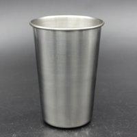 16 oz Copo de Aço Inoxidável Caneca de Cerveja De Metal Caneca de Cerveja Inquebrável BPA Livre Eco-friendly Para Beber Ferramentas Drinkware RRA1962