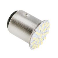 10PCS 1157 BAY15D 3014 22 SMD LED 12V 브레이크 라이트 켜고 신호 전구 후면 정지 조명 따뜻한 화이트 램프